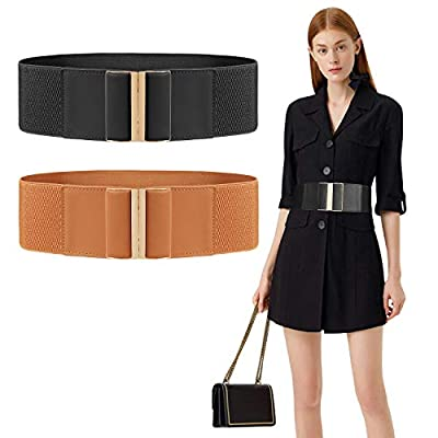 Women's Casual Leather Jeans Belts 1 inch Width Silver Prong Buckle Work Dress Belt, White Small