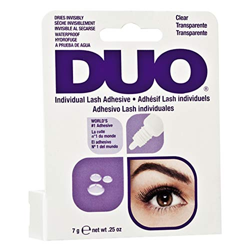 ARDELL DUO Individual Lash Adhesive Clear Transparent, Wimpernkleber, das Original, 1er Pack (1 x 7g)