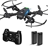 CCE Mini Folding Drone for Kids and Beginners, RC Quadcopter UAV with Altitude Hold, 3D Flips, Headless Mode,Remote Control Super Easy Fly Helicopter Plane with Auto Hovering
