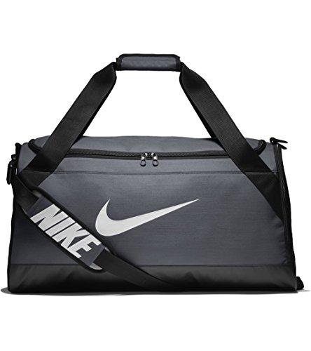 Nike UnisexSporttasche Brasilia Duff Klassische Sporttaschen, Grau (Flint Grey/Black/White), Einheitsgröße