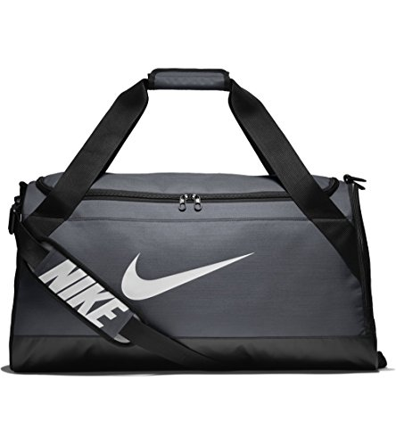 Nike Brasilia (Medium) Training Duffel Bag, Flint Grey/Black/White, One Size