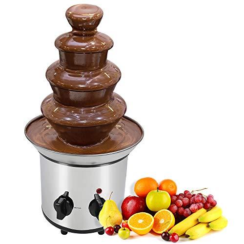 Micnaron 32 Ounce Chocolate 304 stainless Steel Chocolate Pro Fountain.2 lb Capacity Chocolate Fondue Fountain,4 Tiers Electric Chocolate Fountain for Party