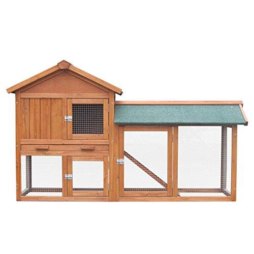 Hasenstall Kaninchenstall Kaninchen-Käfig Hasen-Käfig Kleintier-Stall Freilauf Kleintierkäfig - 7