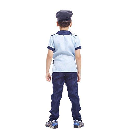 N / A Cosplay Halloween Neuheit Geschenk Kinderkostüm Kleinkind Bühnenkostüme Polizeiuniformen Weihnachtskinder Polizeiuniformen Body Height:120-135cm