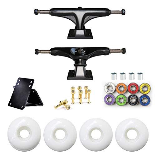 Akemaio Skateboard Räder Set Bridge Skate Board 5 in Halterung Skateboard Hardware, ABEC-11 Lager 52mm Radbrücke Distanzdichtung