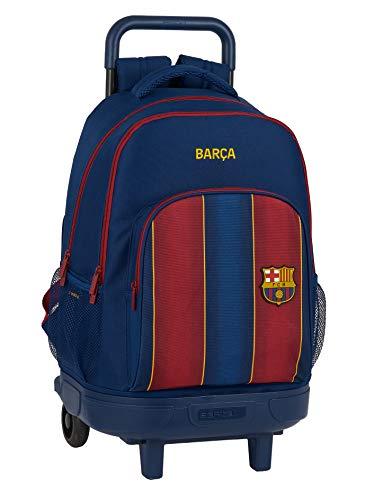 Safta 612029918 Mochila grande con ruedas carro  Trolley FC Barcelona