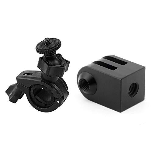 FGDSA CNC Aluminiumlegierung Stativhalterung Outdoor-Sportkamera Basis Für Alle 1/4 Zoll Schraube Einbeinstativ Zubehör Mit Motorrad Saugnapf Für Mobius Action Cam Autoschlüssel Kamera
