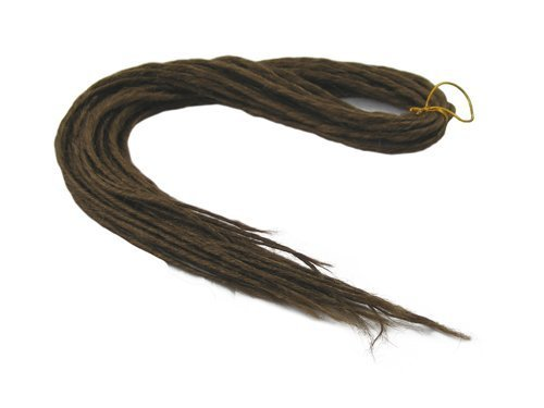 Elysee Star Dreads #18 Dark Golden Brown Dreadlocks Double Ended Synthetic Dread by Elysee Star