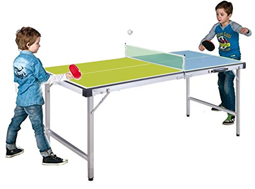 StrMy Tavolo Ping Pong Tennis Tavolo Training Indoor RICHIUDIBILE Pieghevole A Valigetta con Racchette