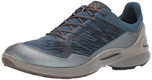 Ecco Outdoor Men's Biom Fjuel Textile Running Shoe, Dark Shadow/Indian Teal, 48 M EU (14-14.5 US)