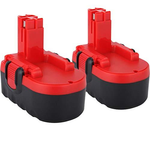 2X Shentec 18V 3.5Ah Ni-MH Reemplazo para batería Bosch BAT025 BAT026 BAT160 BAT180 BAT181 BAT189 2607335266 2607335278 2607335536 2607335680 2607335688 2607335696 2610909020 reubicación para