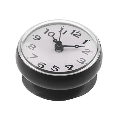 amagogo Wasserfeste Wanduhr Badezimmeruhr Baduhr Küchenuhr Uhr Funkuhr Mit Saugnapf - Schwarz