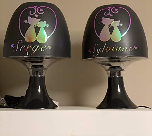 AduLTE - Juego de 2 lámparas de mesa para parejas personali