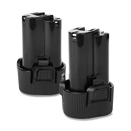 CELLONIC 2X Batería Premium 10.8V, 2000mAh, Li Ion Compatible con Makita DMR108, DF330D, BMR102, DMR102, DMR105, MR051 bateria de Repuesto BL1013, BL1013, BL1014, 194551-4, 195332-9 Pila