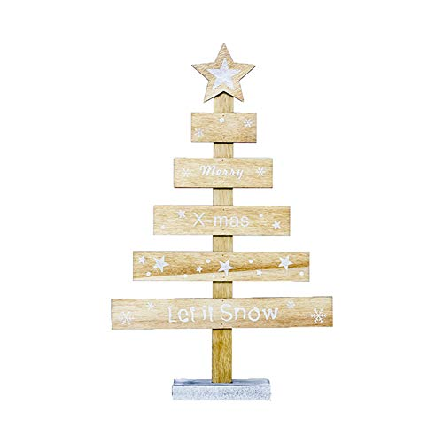 ITemer Decoraciones navideñas Madera Letras Creativas