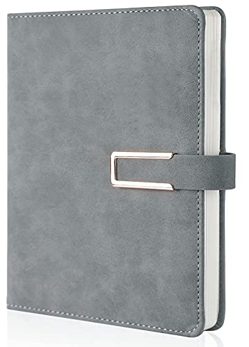 Lined Journal Notebook/Ruled Hardcover Executive Notebooks,with Pen Holder, Medium 5.7 x 8.5 inches, 120 GSM Thick Paper TAKA PRYOR(Gray)