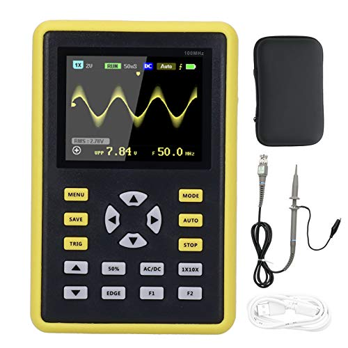 Osciloscopio digital con pantalla LCD IPS portátil de 2,4 pulgadas 100 MHz 500MS/s 5012H para producción electrónica
