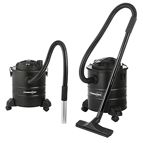 Powersonic Bagless Black 15L Fireplace Ash Vacuum Cleaner/Blower Hoover...