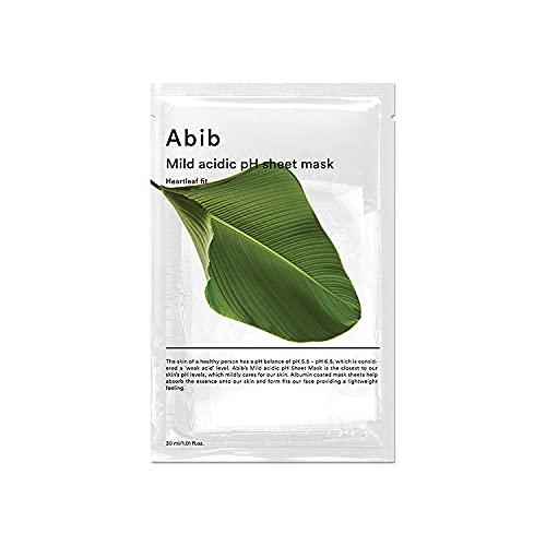 ABIB MILD ACIDIC pH SHEET MASK_ HEARTLEAF FIT/弱酸性phシートマスク ドクダミフィット(10枚)日本国内発送