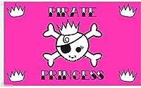 国旗 海賊旗 パイレーツ スカル 骸骨 プリンセス 姫 特大フラッグ【EUC】
