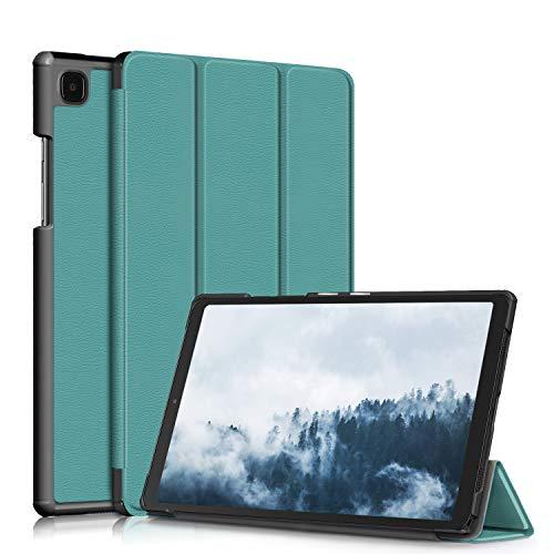 TOPCASE Soporte Funda Protectora para Samsung Galaxy Tab A7 10.4 Pulgadas SM-T500/T505/T507 2020 Carcasa,Ultra Delgado Stand Función Smart Cover Auto-Sueño/Estela,Verde Oscuro