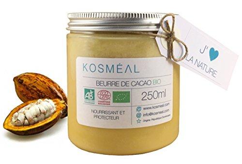 Beurre de Cacao BIO – Certifié Agriculture Biologique (AB) et ECOCERT - 250ml