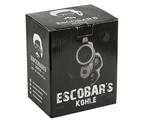 Escobar Kokos Kohle 1 KG | Shisha Naturkohle 26er Cubes