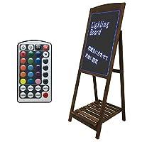 看板 店頭 LED おしゃれ 照明 立て看板 カフェ メニュー ウェルカムボード 案内 LED黒板