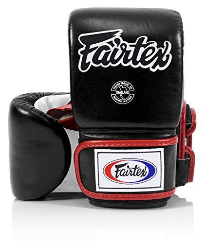 Black and white boxing gloves