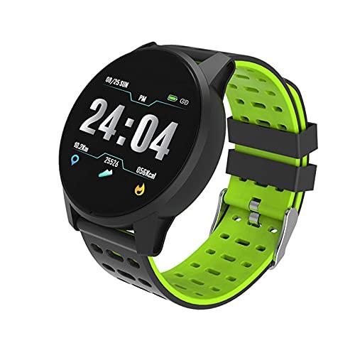 LUWEI Reloj de Monitor de presión Arterial y Ritmo cardíaco, Reloj de sueño Smart Watch para Mujeres y Hombres, IP67 Impermeable, podómetro con Pantalla de Color,Verde