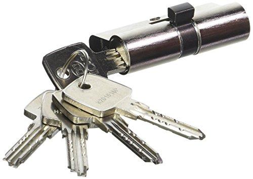 Bricard 11729 Cylindre Débrayable 5 clés, Astral 2,9 en Laiton 10 Pistons, 2 entrées 30, Protection Contre Le perçage et Le crochetage. Carte personnelle, Acier Nickelé, 60
