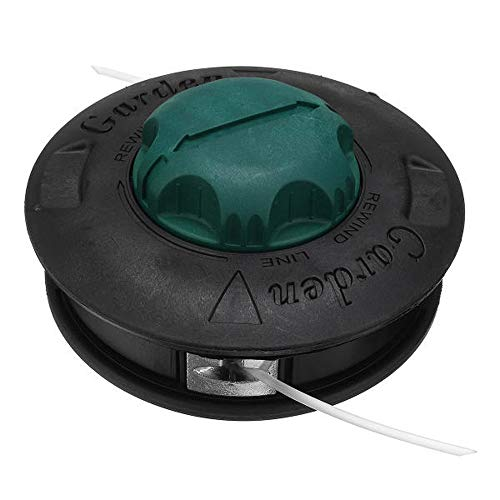Goodvk Cortadora de Cesped Cabeza Trimmer Head batidora Twister Bump Línea de Alimentación de Snipper for desbrozadora for el jardín Uso Agrícola Fácil de Usar (Color : Black, Size : M10x1.25)