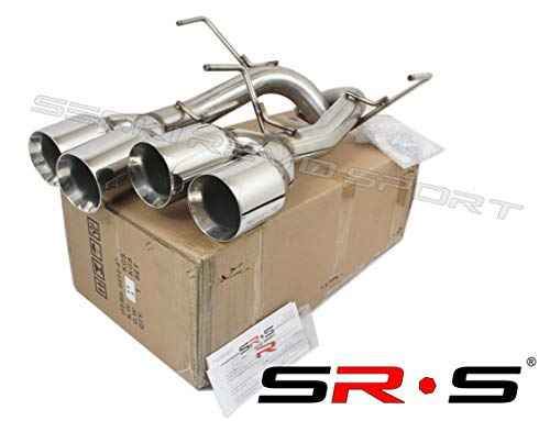 SRS Axleback QUAD TIP EXHAUST FOR 2011-2014 Subaru WRX/STI Chrome 4' TIPS