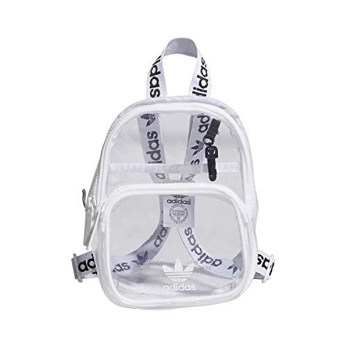 adidas Originals Mini mochila unisex Originals transparente, Unisex, Mochila, 978212, blanco, Talla única