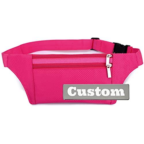 ZZMGDAM Bolso Personalizado Personalizado Bolsa de la Cintura Viaje Fanny Pack Fanny Bolsa de Viaje para Mujeres (Color : Red, Size : One Size)