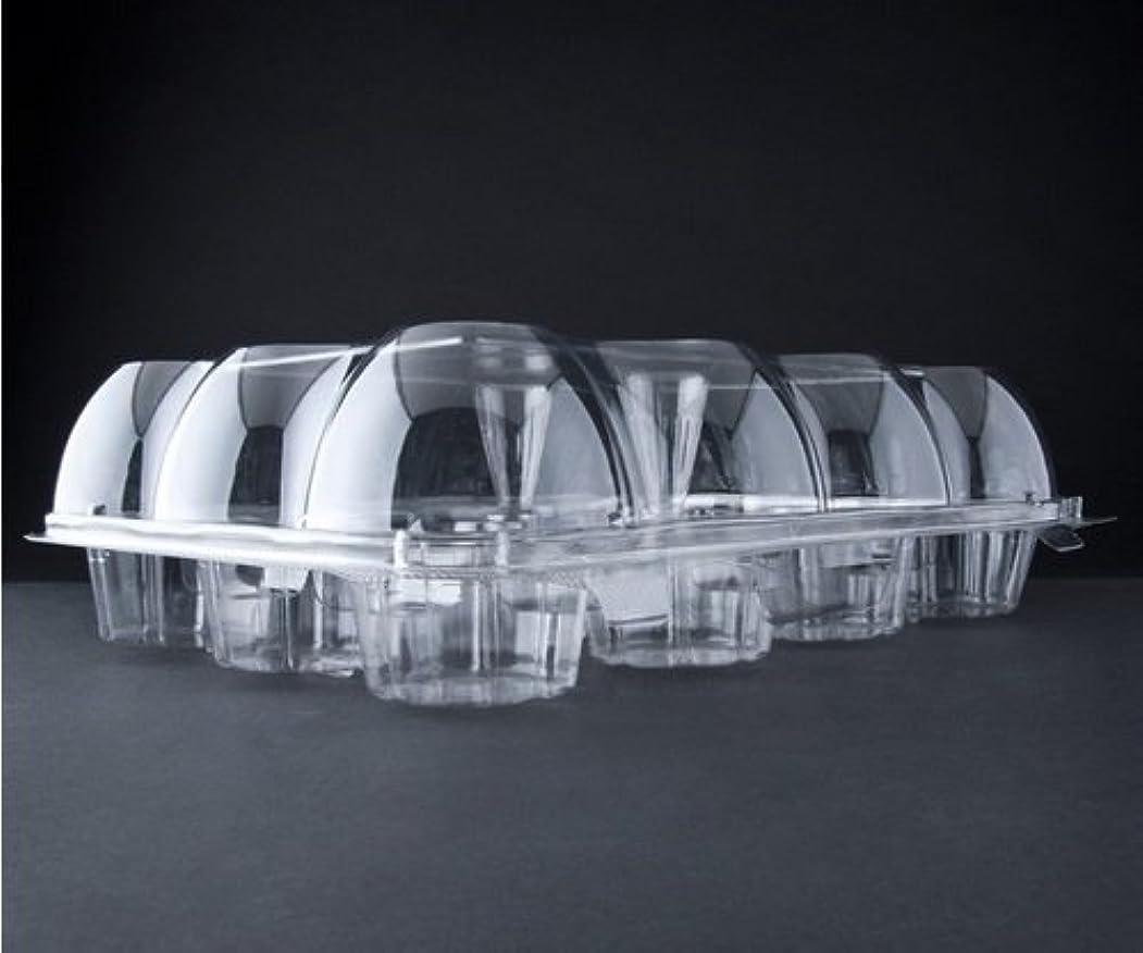 さらに生じるスキッパーOasis Supply 12-Compartment Hinged High Dome Clear Cupcake Container, Clear