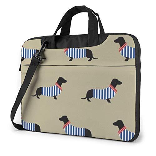 Elegante Estuche para computadora portátil Dachshund, 14 Pulgadas, Bolso de Mano para computadora, Bandolera, maletín para Viajes de Negocios