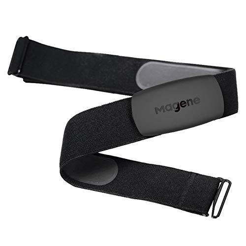 WANGSHANG H64 Monitor de ritmo cardíaco Correa de pecho ANT+ Bluetooth Impermeable Sensor HR Hombres Mujeres Correa Totalmente Ajustable Cinturón de Frecuencia Cardíaca