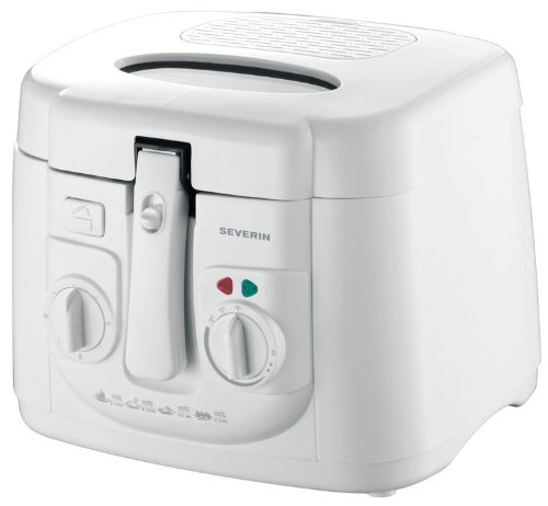 SEVERIN FR 2433 Fritteuse (1.800 W, mit 30 min Signalton, 2,5 L Kapazität, 500 g Frittiermenge) weiß