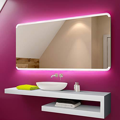 Badspiegel 80x60cm mit LED Beleuchtung - Wählen Sie Zubehör - Individuell Nach Maß - Beleuchtet Wandspiegel Lichtspiegel Badezimmerspiegel - LED Farbe zu Wählen Kaltweiß/Warmweiß L73
