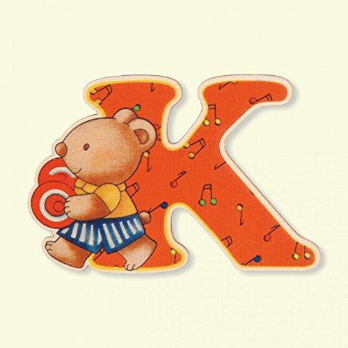 Dida - Lettre K Bois Enfant - Lettres Alphabet Bois pour Composer Le nom de Votre bébé et décorer la Chambre
