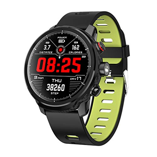 ZSP Smart Watch sporthorloge kleurenscherm full-Touch-hartslag-stappenteller IP68 waterdicht rood