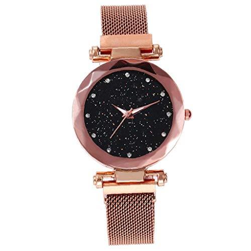 1pc Mujeres De Los Relojes De Acero Inoxidable Magnético De La Hebilla De Correa Relojes Luminosos del Dial del Reloj De Señoras