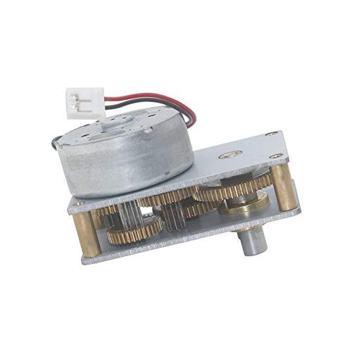 WJN-Motor, 1pc Flachgetriebe for hohe Drehmomente Getriebemotor 3v-12v Low Speed Lärm Micro Metall Motor Reductor Reversible CW CCW Hartmetall-Getriebemotoren (Größe : 6V No Load 27RPM)