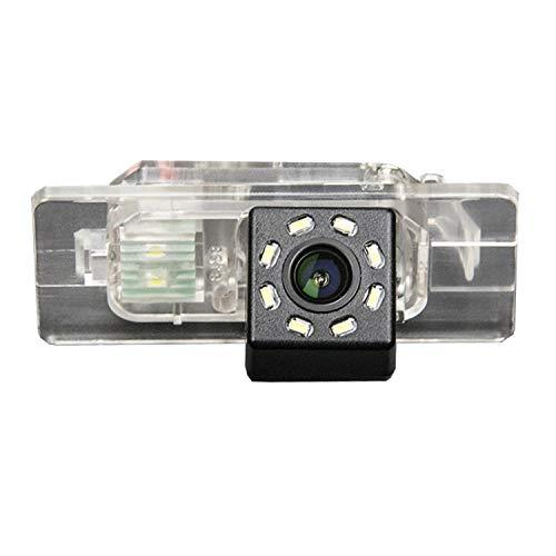 HD 720p Farb Rückfahrkamera Kennzeichenbeleuchtung Kamera Einparkhilfe mit Distanzlinien für Audi A3 8P 8V S3 A4 B6 B7 B8 S4 A6 C6 S6 RS6 A8 RS4 TT 8N Q3 Q5 Q7 (B=Clip Style)