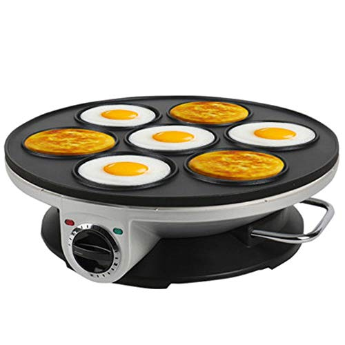Tortilla De 7 Orificios Plug-in Electric Pequeño Desayuno Pot Máquina De Huevo Escalfado Huevo Antiadherente Huevo De Huevo Pan