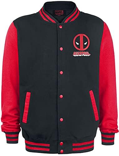 Deadpool Face Männer Collegejacke schwarz/rot XL