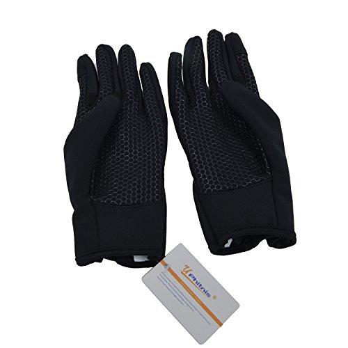 UPhitnis Herbst Winter Fahrradhandschuhe für Herren Damen - Outdoor Winddicht Touchscreen Handschuhe - Winterhandschuhe für Lauf Radfahren Jagd Sports - 6
