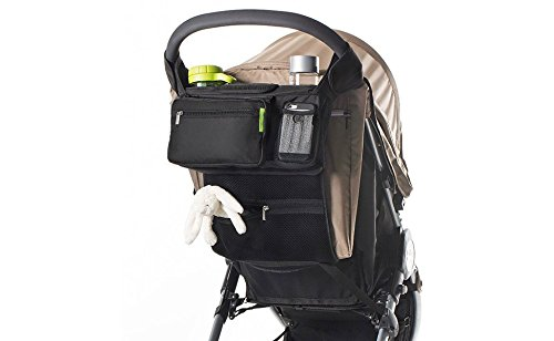 Baby Stroller Multi-Purpose Mom, Fits All Strollers, Premium Deep Cup Holders, Extra-Large Storage Space for iPhones, Wallets, Diapers, Books, Toys, & iPads