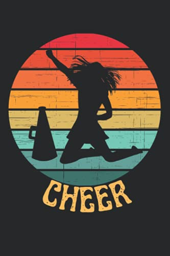 Retro Sunset Cheer Notebook / Journal: Perfect gift for any cheer coach you want to show your appreciation for. Makes a great end of year gift or a stocking stuffer.